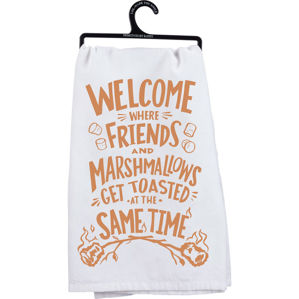 Friends and Marshmallows Dish Towel