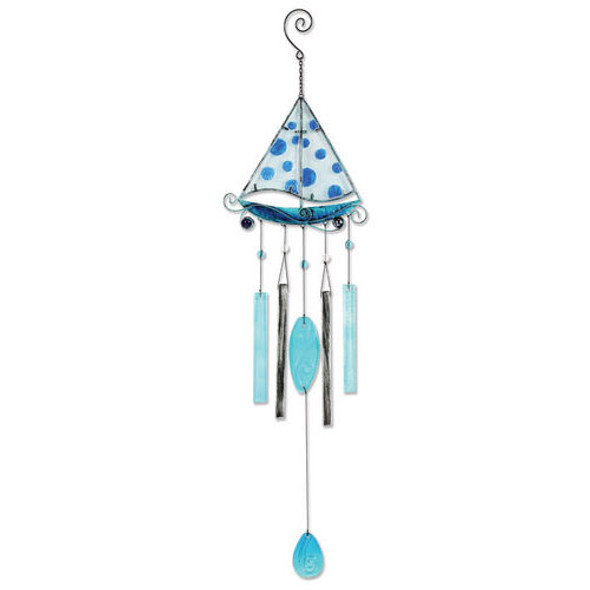 Sailboat Metal & Glass Wind Chime