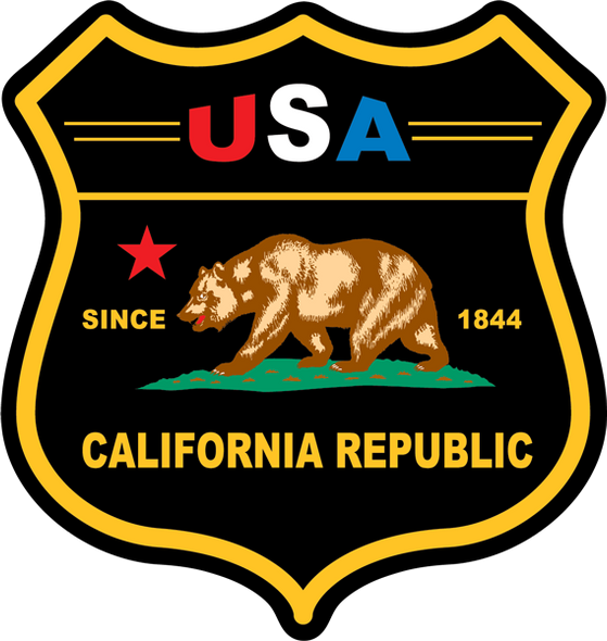 California Black Shield Sticker