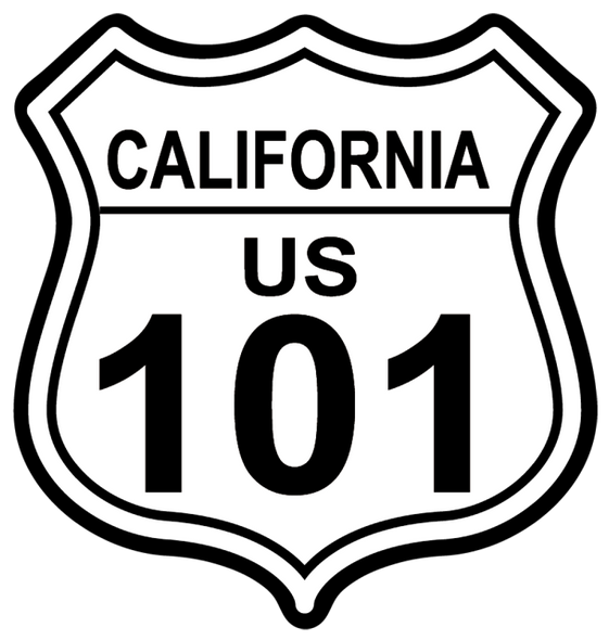 California 101 shield sticker