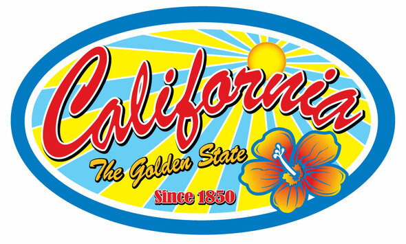 California Golden State Sticker