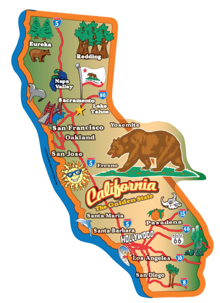 California Map Sticker