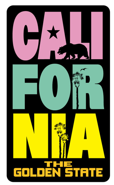 California Tri Stack Sticker