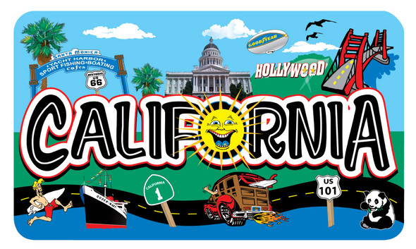 California Clip Arts Sticker