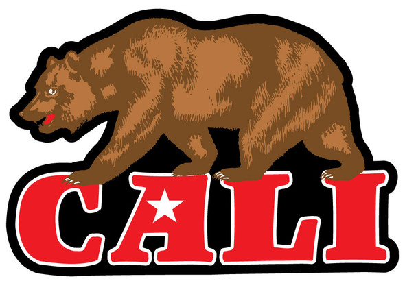 Cali Bear Sticker