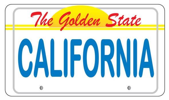 California License Plate Sticker