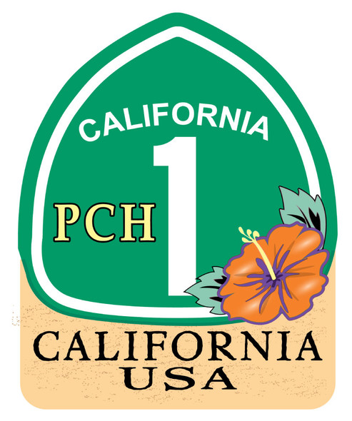 California PCH Sticker