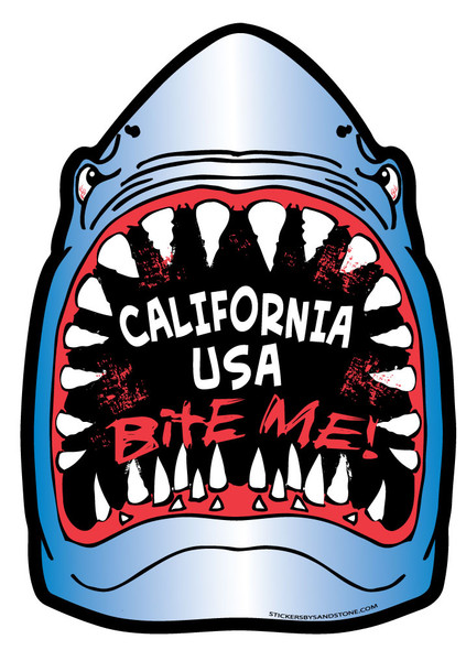 California Shark Sticker