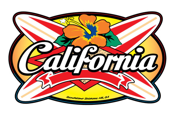 California Longboards Sticker