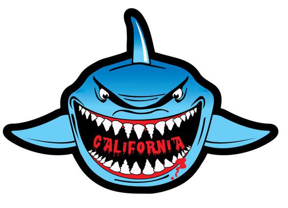 California Shark Sticker
