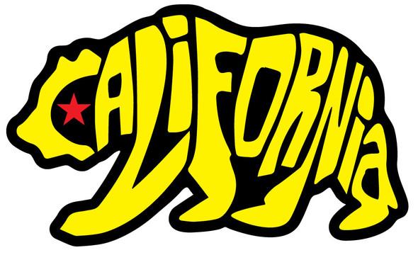 Yellow Bear California Sticker