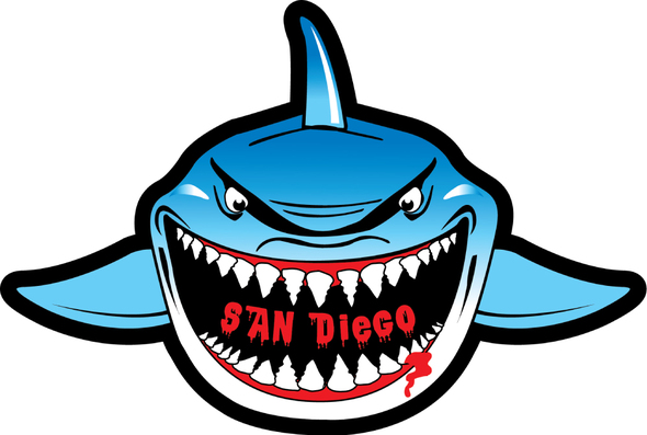San Diego Shark Sticker