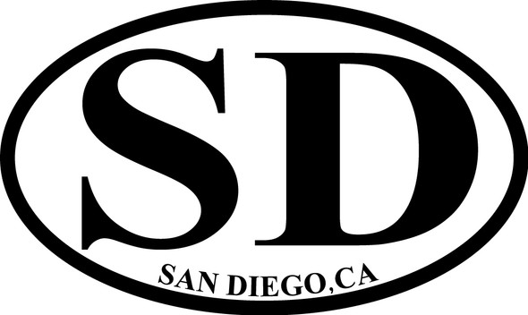 San Diego Euro Sticker