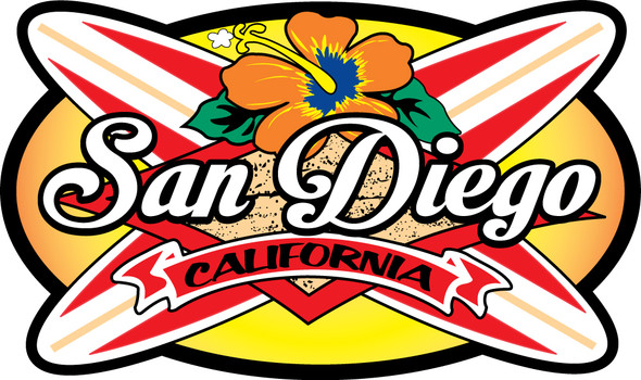 San Diego Longboards sticker