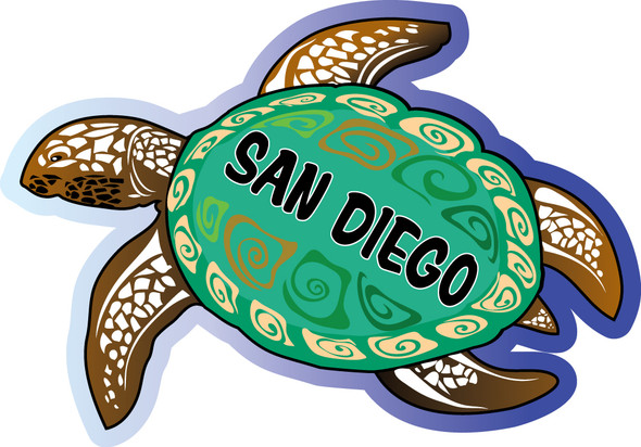 San Diego Sea Turtle sticker