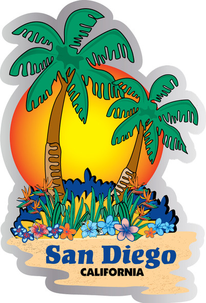 San Diego Sunset Palms sticker