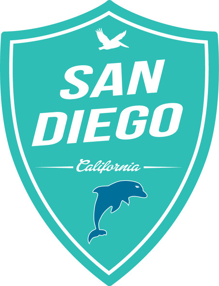 San Diego Dolphin Shield Sticker