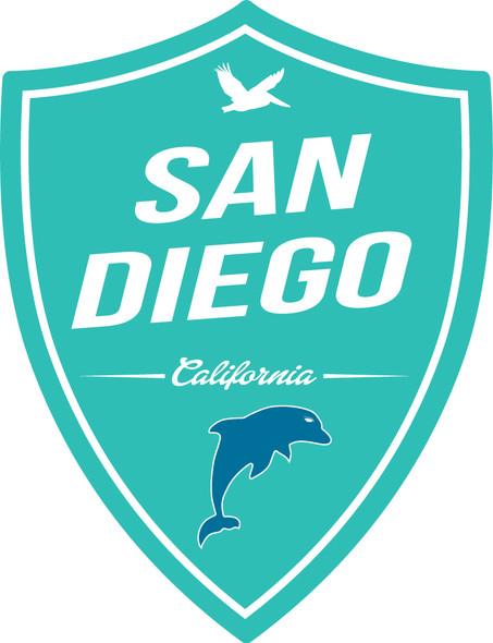 San Diego Dolphin Shield Sticker