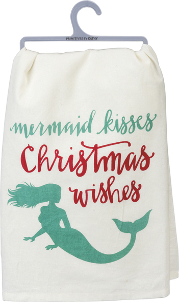 Mermaid Kisses & Christmas Wishes Towel