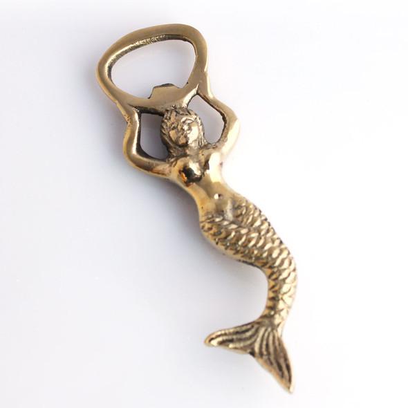 Small Brass Mermaid Bottle Opener