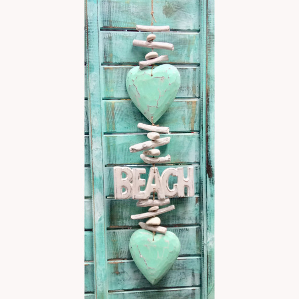 Wood Beach Heart Strand