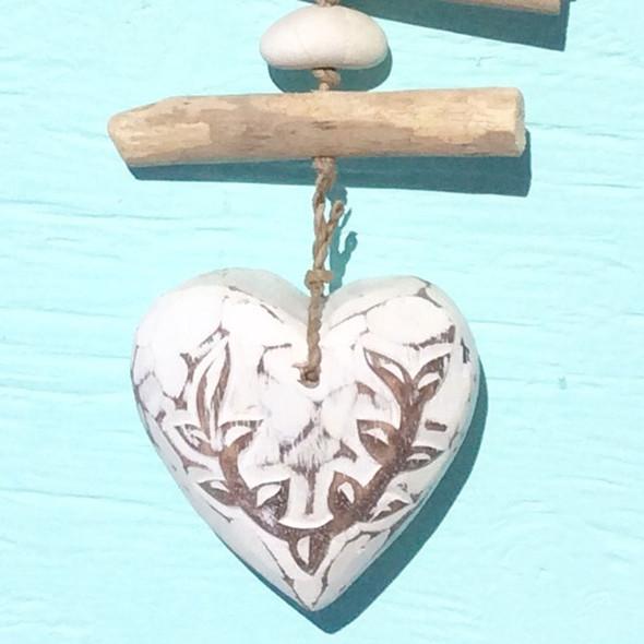 Single White Heart Strand