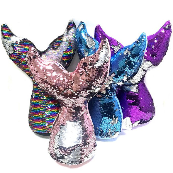 Mermaid Tail Sequin Pillow