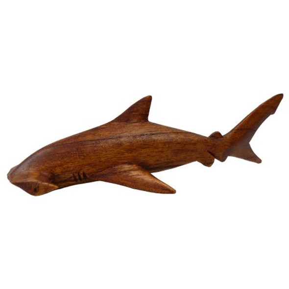 Real Wood Hammerhead Shark Statue