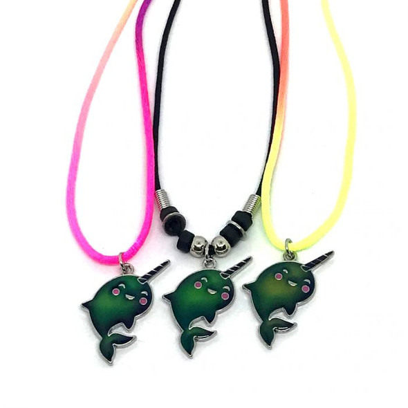 Narwhal Mood Necklace