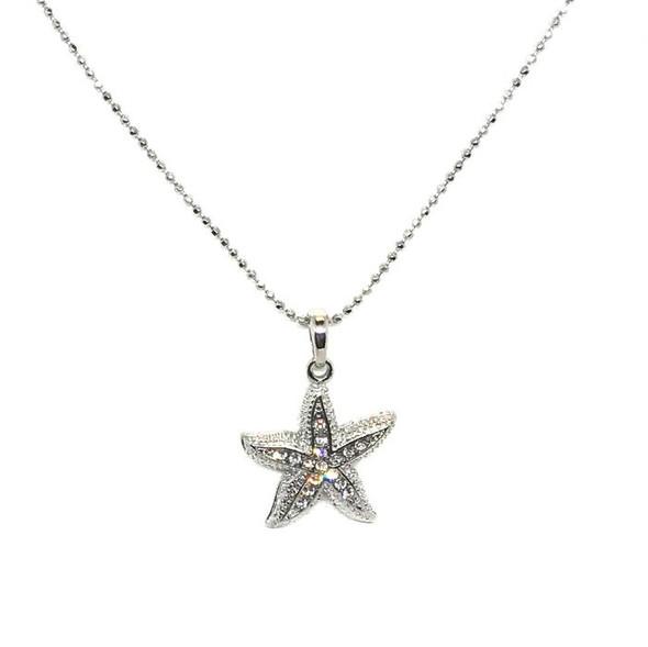 Starfish Rhinestones Necklace