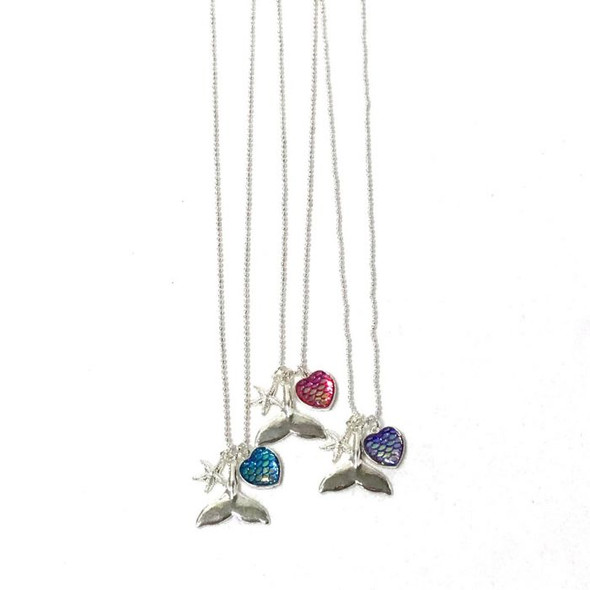 Mermaid Tail Rhinestone Necklace