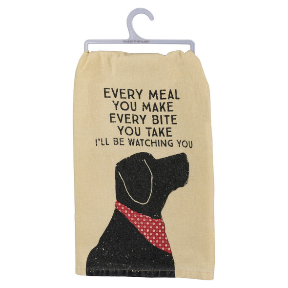 Every Meal You Make, Every Bite You Take, I'll Be Watching You - Dish Towel