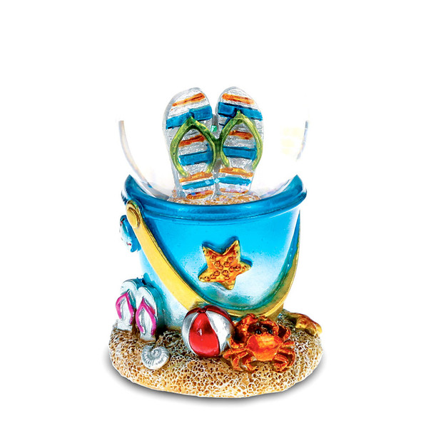 Cool Summer Sandals Beach Bucket Snow Globe