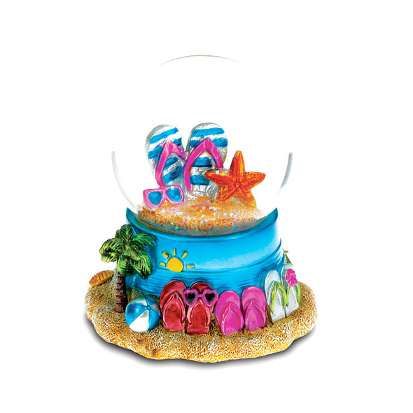 Summer Sandal Snow Globe