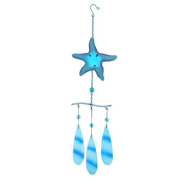 Starfish Metal & Glass Chime