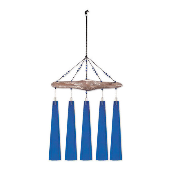 Cobalt Sea Glass Windchime