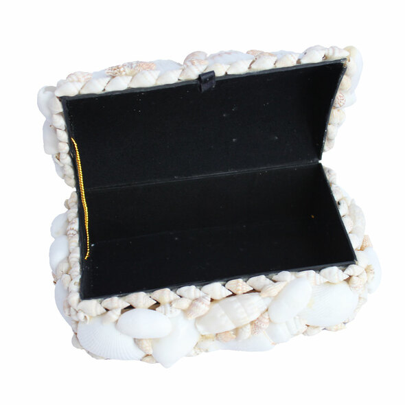 White Seashell Treasure Chest