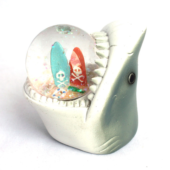 Shark Surfboard Snow Globe