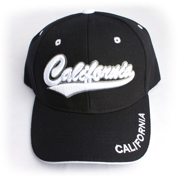 California Black & White Hat