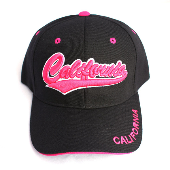 California Black & Hot Pink Hat
