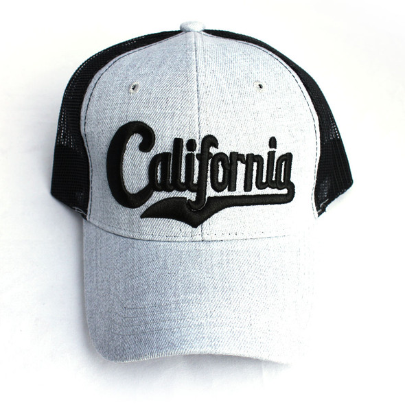 California Light Gray & Black Hat