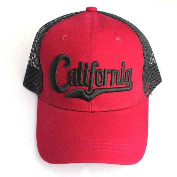 Maroon ad Black California Hat