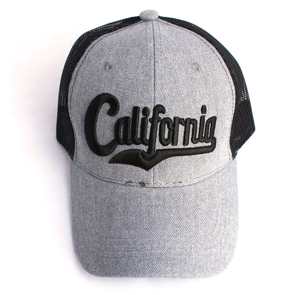 Dark Gray & Black California Hat