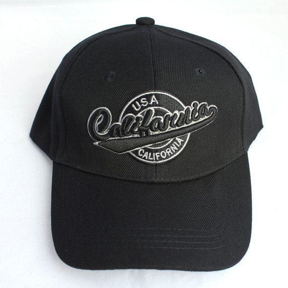 Black California USA Hat