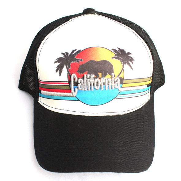 California Bear Sunset Black Hat