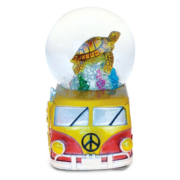 VW Bus Sea Turtle Snow Globe