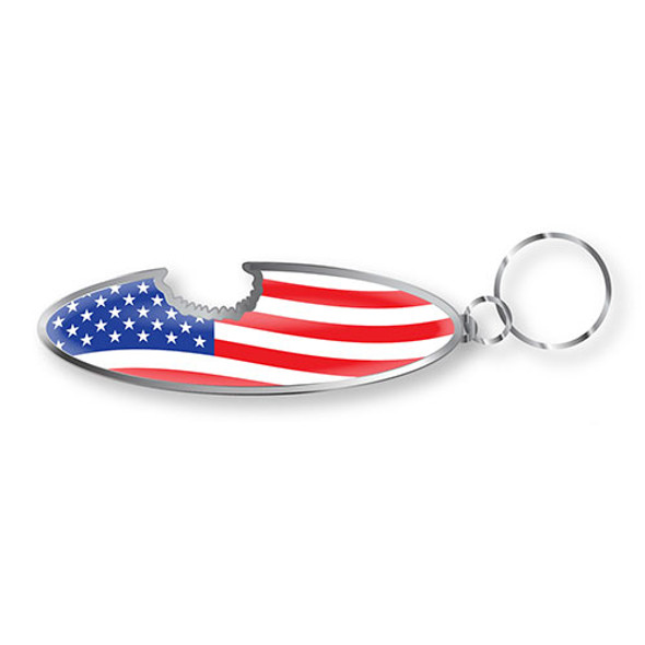 American Flag Keychain Bottle Opener