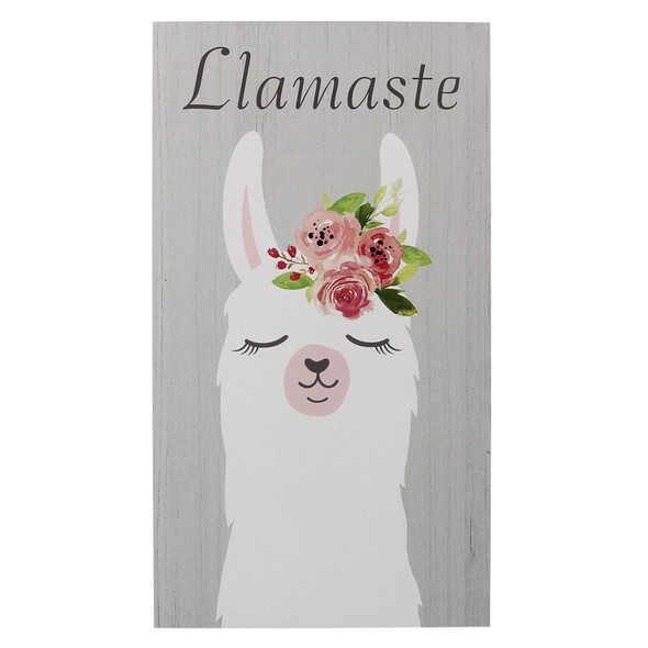 Llamaste Wood Box Sign