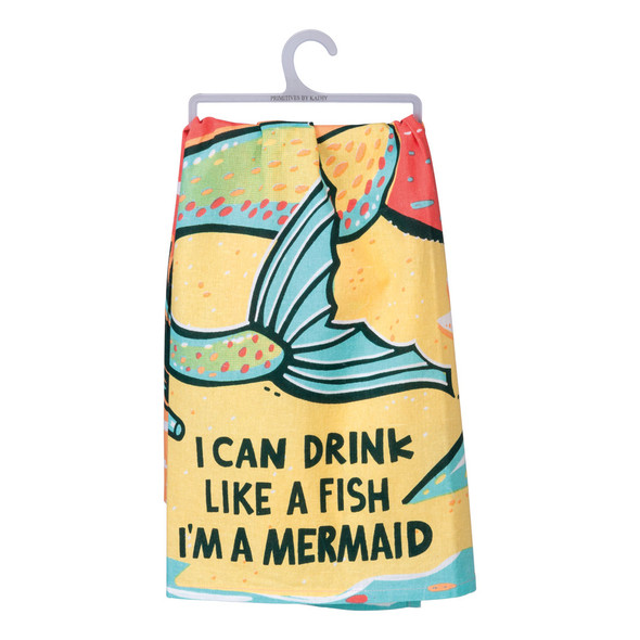 Drink Like a Fish Mermaid Towel