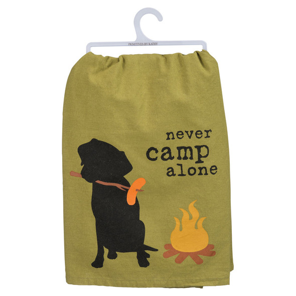 Never Camp Alone - Dog Towel
